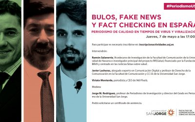 Debate sobre desinformación organizado por la USJ
